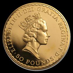 Britannia 1 2 Toz Proof 1987 Europese Goudstandaard
